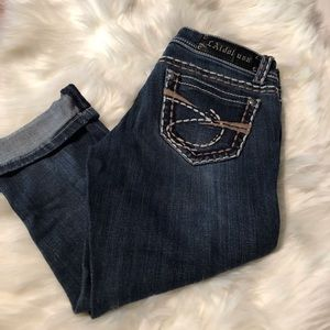 L.A idol USA Stretch Crop 8100S Size 5